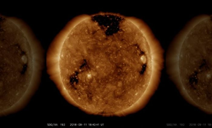 Sun Outer Atmosphere Hole