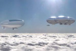 NASA Cloud City Airship