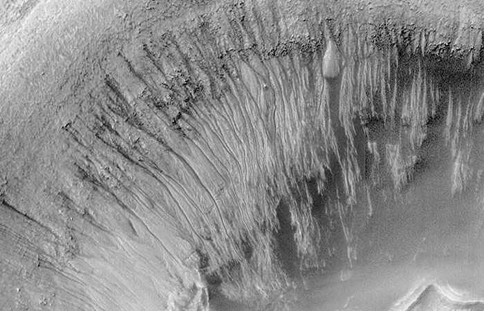 Presence of water on Mars