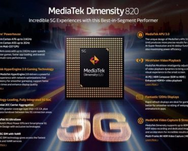 MediaTek Dimensity 820 New 5G CPU